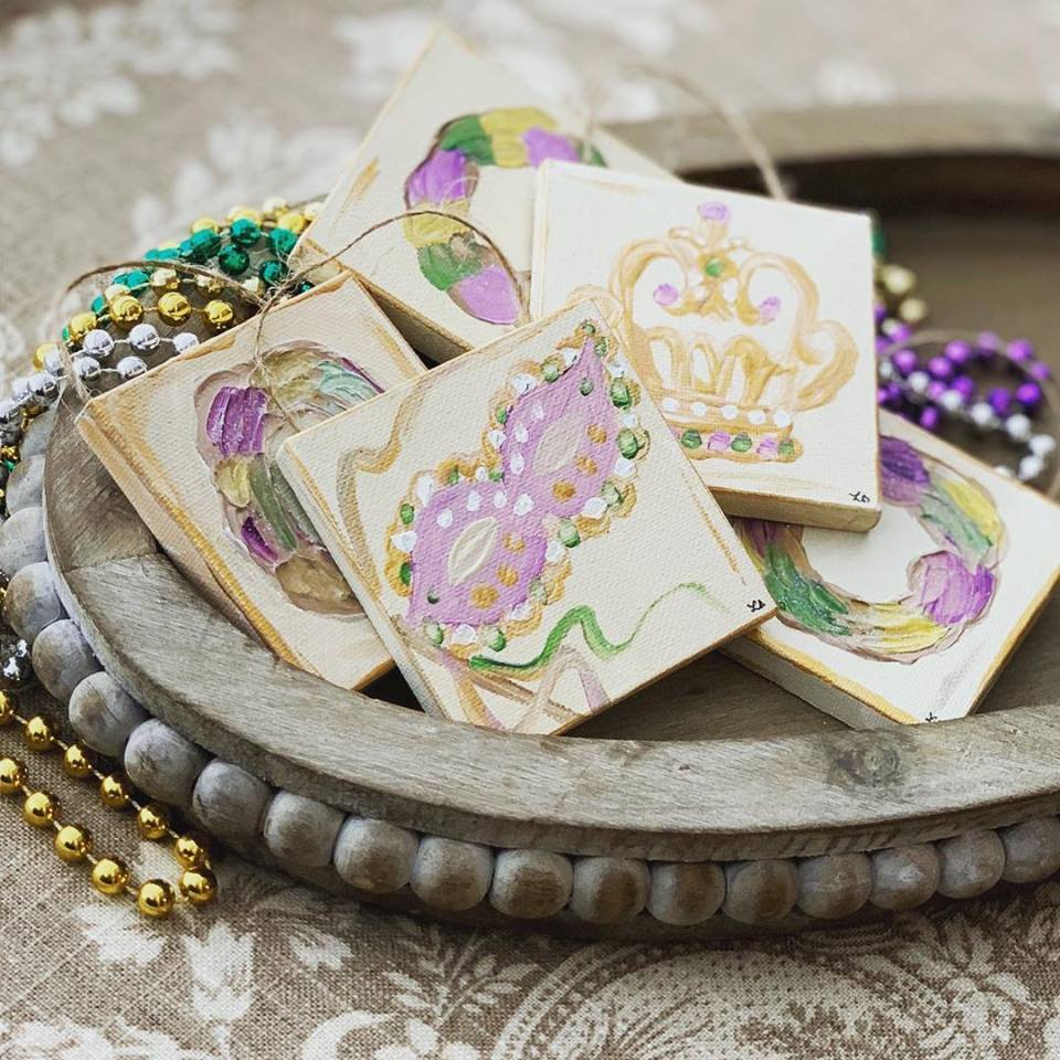 Mardi Gras Ornaments by Great Thou Art Studio
